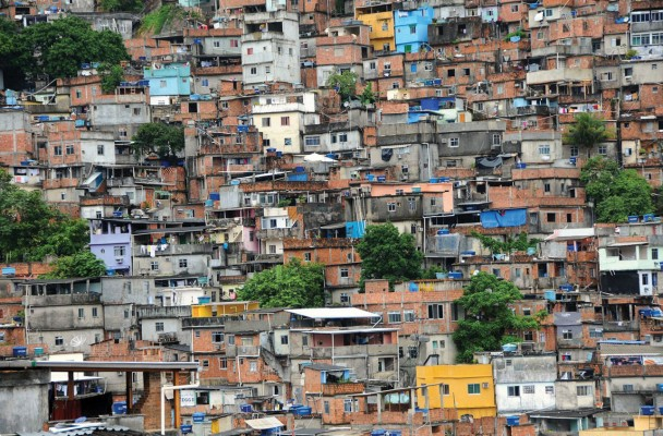 "Brazilian favelas, photo under Creative Commons license from the book  ""Regional Geography of the World: Globalization, People, and Places""."